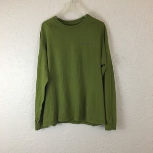 Patagonia Mens Sweater Shirt green small cotton